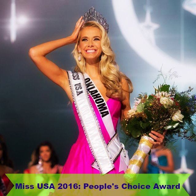 Miss USA 2016: TGPC People's Choice Award – The Great ...